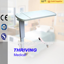 THR-OBT003 Hospital moveable laptop hospital adjustable table