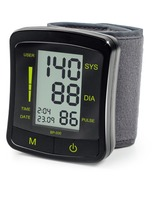 Portable Home Digital Wrist Blood Pressure Monitor, Heart Beat Meter Tester with LCD Display
