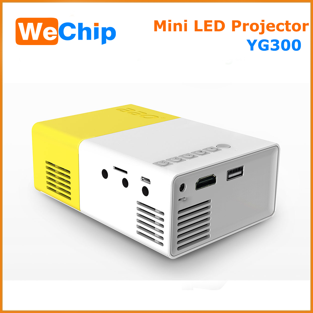 Factory Cheap Mini Portable HD LED Projector, Build-in Battery Rechargeable Best Holographic Mini Projector YG 300
