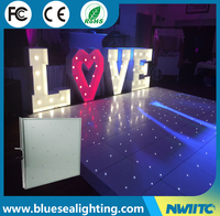 Cheap wedding dj party star acrylic portable led starlit dance floor