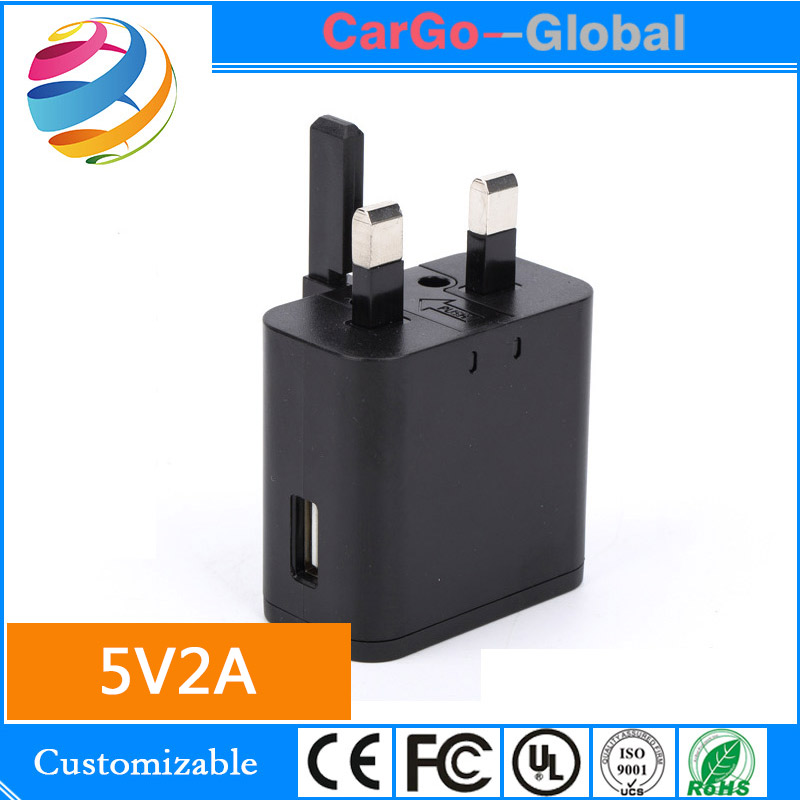 5V2A USB charger tablet computer retractable head British standard power adapter MT113021