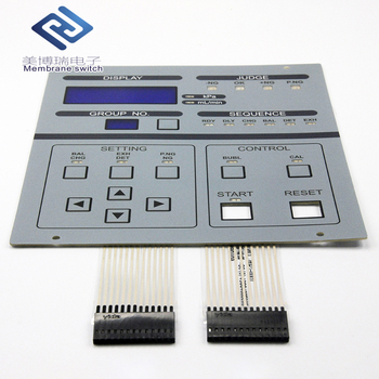 Gray Color Customized Touch Panel Membrane Keypad