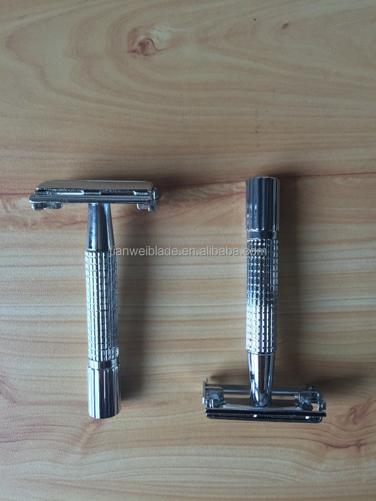 Hot sale Good Quality butterfly twisting metal saftey razor