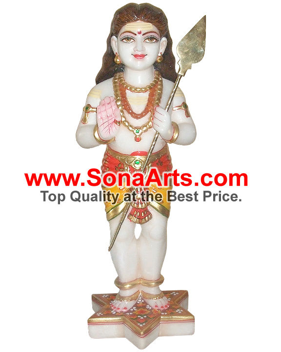 Marble Statues of Lord Murugan