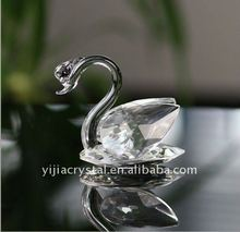 Decoration Glass Crystal Swan/Small Swan Figurine Animal Figurines