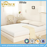 Good supplier brushed high quality bed sheet solid flannel bedsheet embroidered bedding set