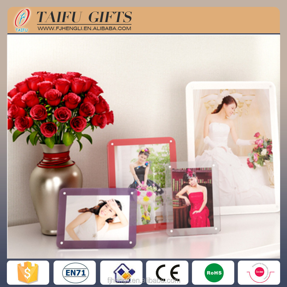 custom acrylic 2 side digital picture photo frame