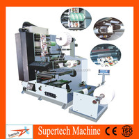 Automatic 4 Color flexo printing machine Roll To Roll flexo label printing machine