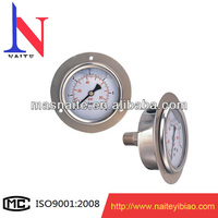 Industrial use stainless steel oil manometer with flange