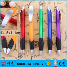 Big refill rubber grip plastic ball pen