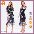 OEM/ODM Guangzhou Manufacturer Long Dress For Women Multicoloured Floral Print