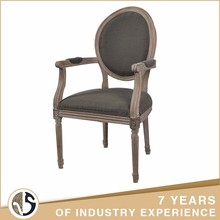 gray fabric upholstered wood dine style chair antique