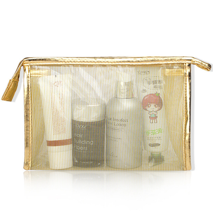 OEM promotional transparent clear pvc cosmetic bag travel makeup bag_9