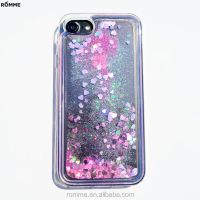 Professional phone case cover manufacturer supplies beautiful bling bling glitter phone case liquid phone cover