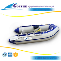 8.6' High Quality Air deck floor PVC/Hypalon inflatable rubber boat