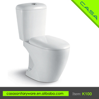 Economical price ceramic white two piece mobile toilets for sale