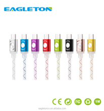 Alibaba best sells usb data cable with led light mobile phone charging line for android phone fast charger cable