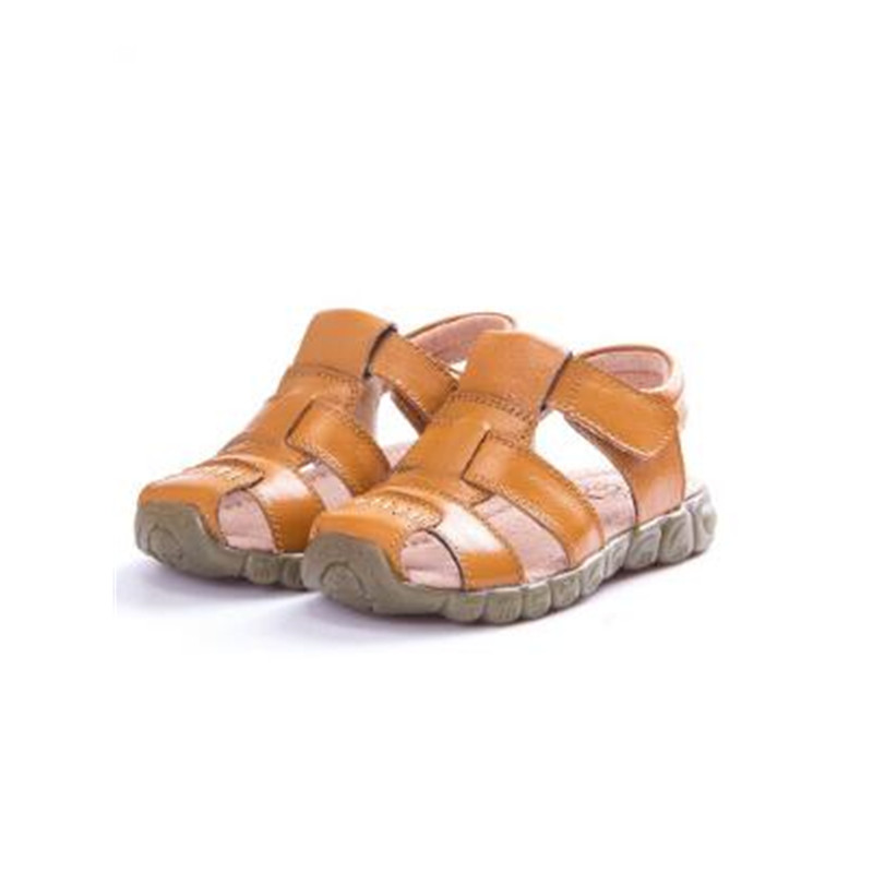 Kids Fashion Beach Sandals 2018 Summer Soft Leather Boys Shoes