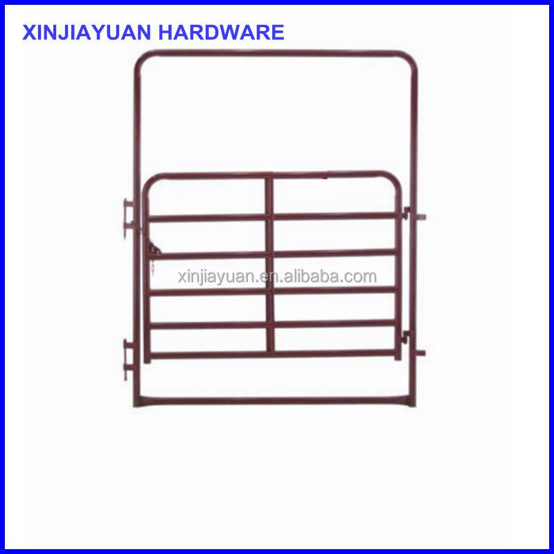 animal steel tube farm field security gate for bull / cow / sheep/ goat /cattle breeding