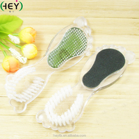Hot Sell Foot-Shaped 2 in 1 Nail Cleaning Brush With Nail File