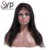 Short 100% Brazilian Human Hair Toupee Lace Front Wigs Bangs / Combs And Adjustable Strap For Women