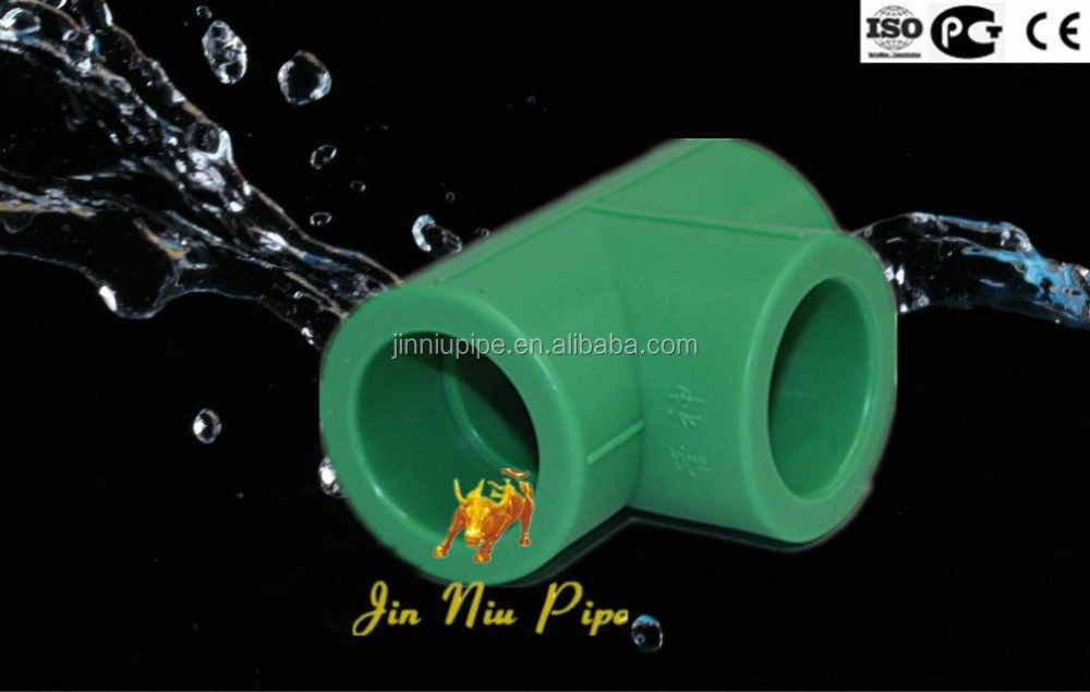 100% Korean Raw Material PPR Tee For Hot or Cold Water Supply Piping System