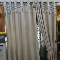 Luxurious ready made curtain/china tulle curtain fabric
