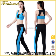 2016 Women Sport Yoga Set For Running Gym Sportwear Suit Girl Ladies Elastic Waist Yoga Suit Fitness Workout Clothing Quick Dry
