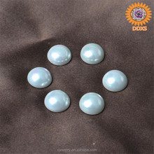 wholesale white half round cabochon shape south sea shell pearl,falt round loose beads