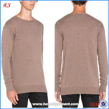 Wholesale High Quality Men's Clothing Latest Sweater Designs for Men Custom Camel Sweater