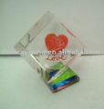 Romantic 3d laser crystal cube special valentine gifts for lover