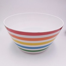 hot sale large size printed cheap melamine popcorn bowl
