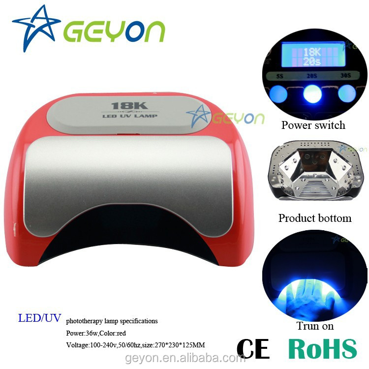 Lastest high profit margin product Automatical 18k 36w/48w led nail lamp table Dryer for Harmony Gelish with best prices