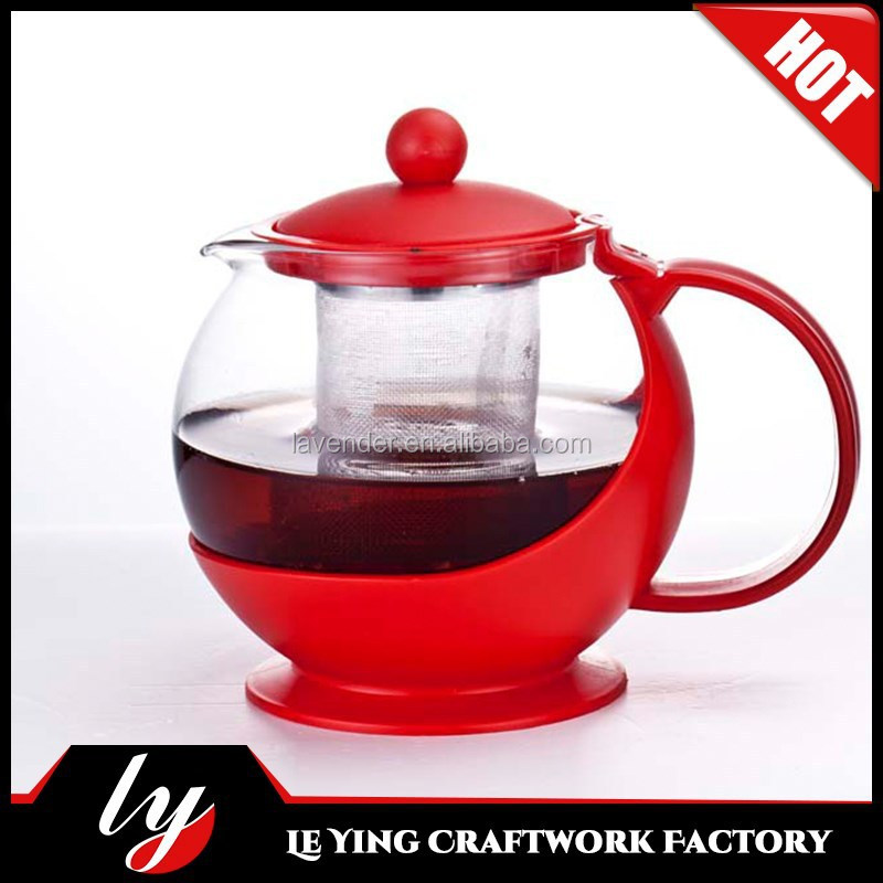 cheap price wholesale glass teapots/turkish samovar with infuser