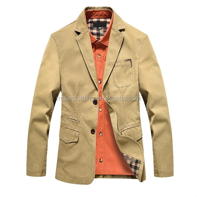 Manufacturers 2018 spring men's casual suit Safari men's jacket, cotton men jacket