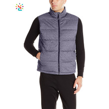 Wholesale down vest mens cheap uniform vests water resistance vest sleeveless down jacket custom