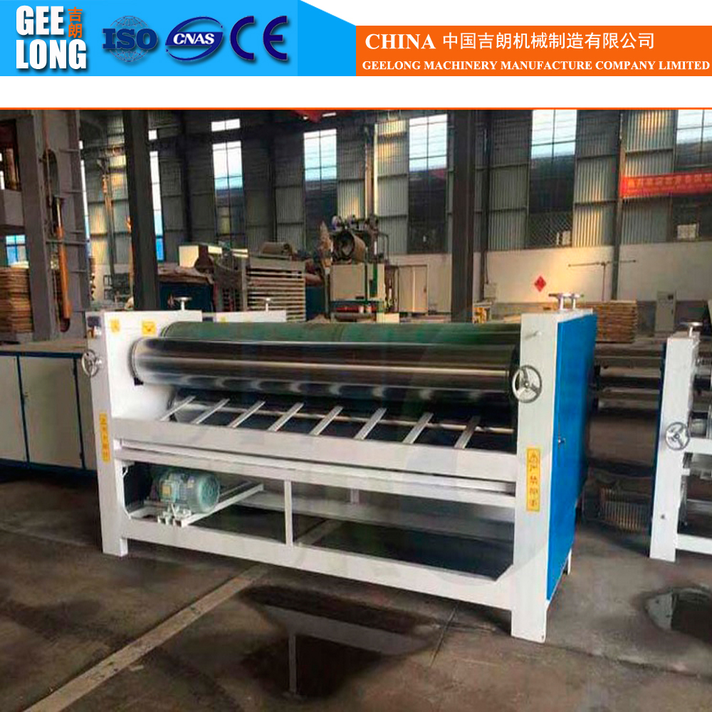 Double side four rollers glue spreader machine, veneer gluing machine