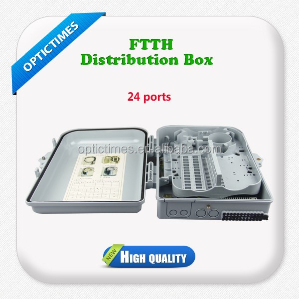 FTTH Outdoor 24 core Fiber optic cable Distribution Box/terminal box/odf price