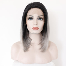 100 brazilian virgin hair full lace wigs hot sale gradient grey