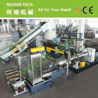 Two Stage Recycled Plastic Granule Making Machine