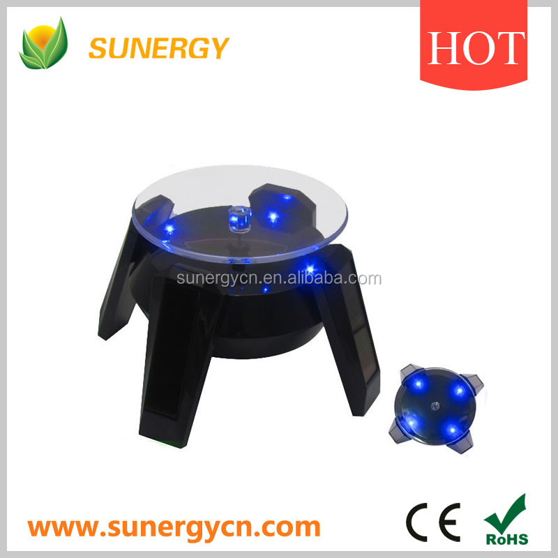 Rotating LED small square crystal display colourful light stands
