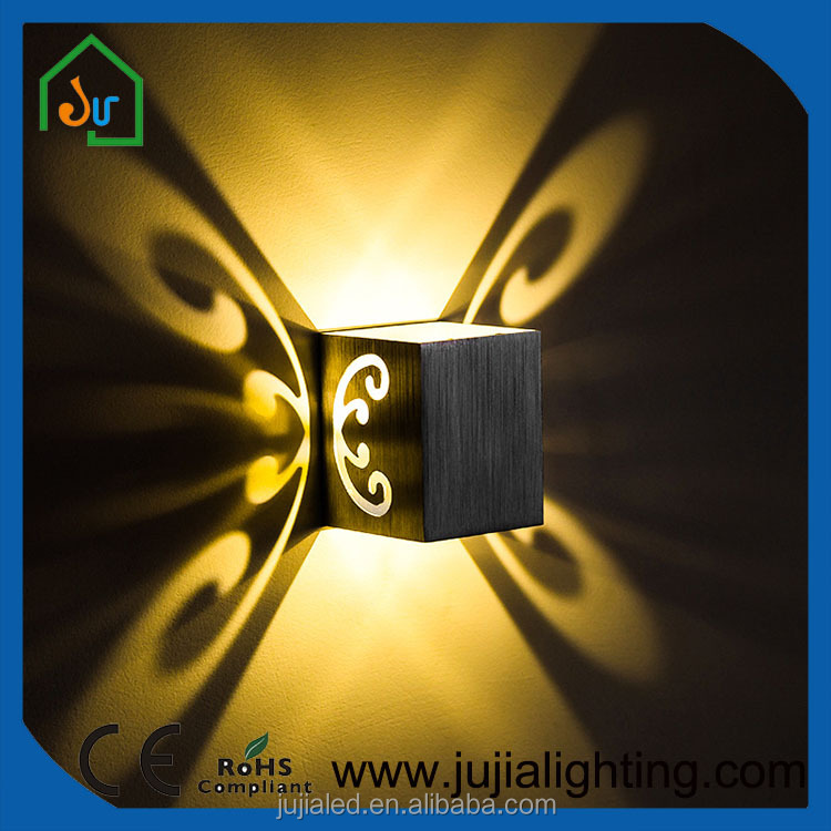 2017 Newest design Butterfly shadow Led wall light indoor lighting
