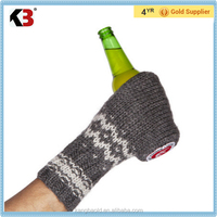 2016 Fashionable acrylic adult beer knitted gloves fashion & popular winter beer gloves mittens and gloves wholesale