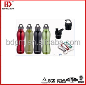 Single Wall Sports Drinking Bottle Stainless Steel Sports Bottle 4 Capacities For Choice