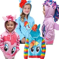 Kids Casual Spring Coats Zip Hoodies Cheap Horse Costume New Products For Europe