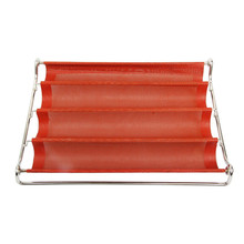 Non-stick silicone baguette backing tray with stainless steel frame