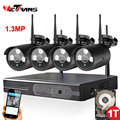 CCTV 4 Channel Kit 960P Outdoor Security Home Wireless Camera Outdoor Security System IPK9104B-W