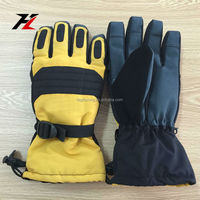 Fashionable yellow ski glove for students at school