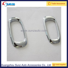 For Toyota Prado Land Cruiser FJ120 2003 SUV ABS chrome Side Lamp Cover trim fit Toyota Prado fj120 2004 2005 2006 2007