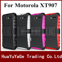 Free shipping Rugged Hard Robot Back Cover Stand Holder kickstand case for Motorola MOTO DROID RAZR M XT907
